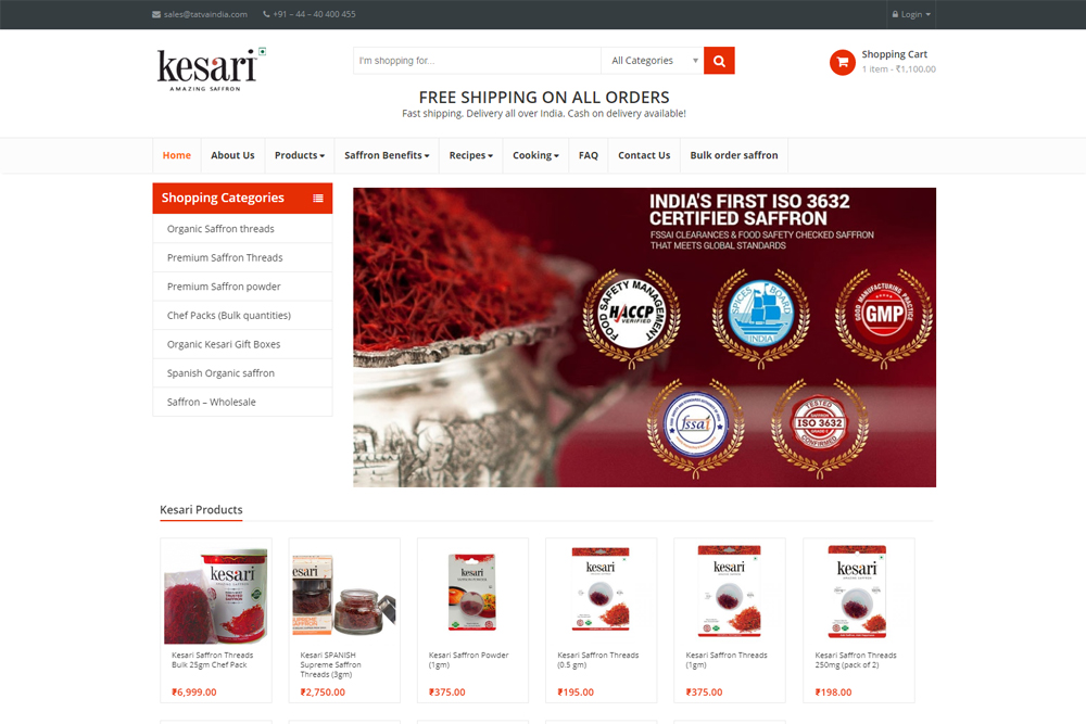 kesari-saffron-ecommerce-wordpress-website