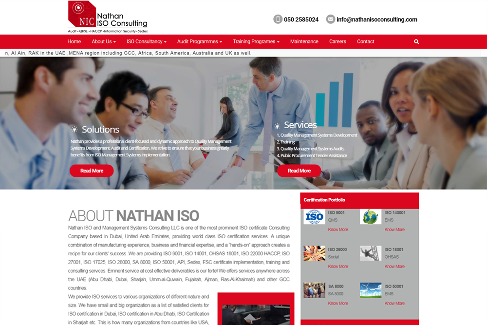 nathan-iso-consulting-wordpress-website