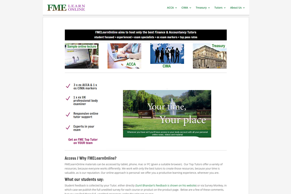 fme-learn-online-educational-wordpress-website