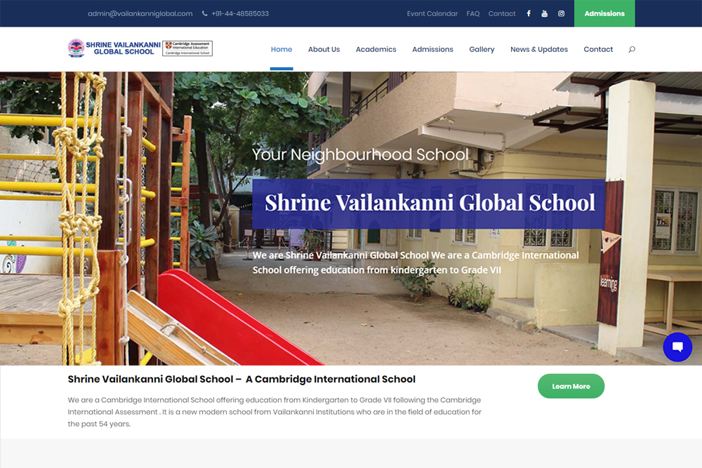 svgs-global-school-wordpress-development-chennai