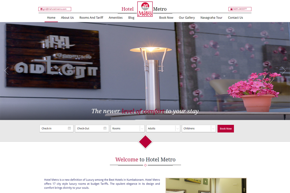 hotel-metro-hotel-website-design-chennai