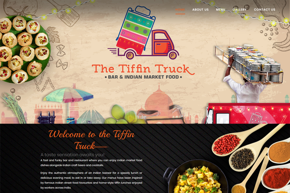 the tiffin truck restaurant website design chennai
